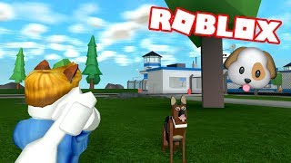 🐶 MY NEW WORK ACCOMPANYER! 👮🏻🐶MAD CITY - ROBLOX