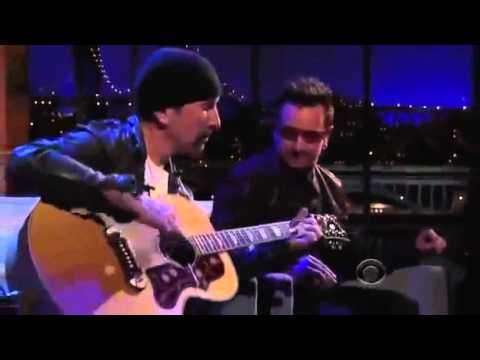 Bono and The Edge pay tribute to Michael Hutchence Letterman, 2011