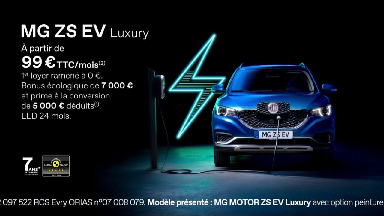 """Musique de la pub MG ZS EV Luxury 100% electric """"recharge yourself""""  Mai 2021"""
