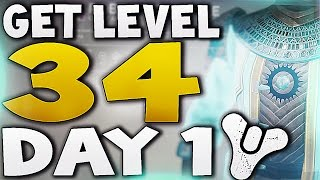Destiny - HOW TO GET LEVEL 34 DAY 1 (House of Wolves)