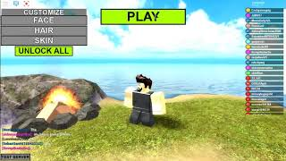 playing booga booga in roblox
