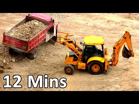 Construction Vehicles - Truck Videos For Kids, Toy truck, Heavy Equipment Monster Truck Videos