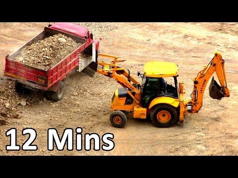 Construction Vehicles - Truck Videos For Kids, Toy truck, Heavy Equipment Monster Truck Videos