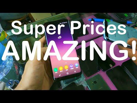 Buying Phones Super Cheap At ShenZhen Refurbished Market AMAZING!!!