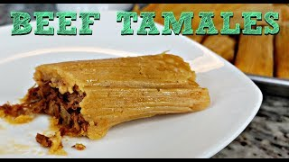 Soft and Tender BEEF TAMALES RECIPE | How To Make Tamales | Simply Mama Cooks