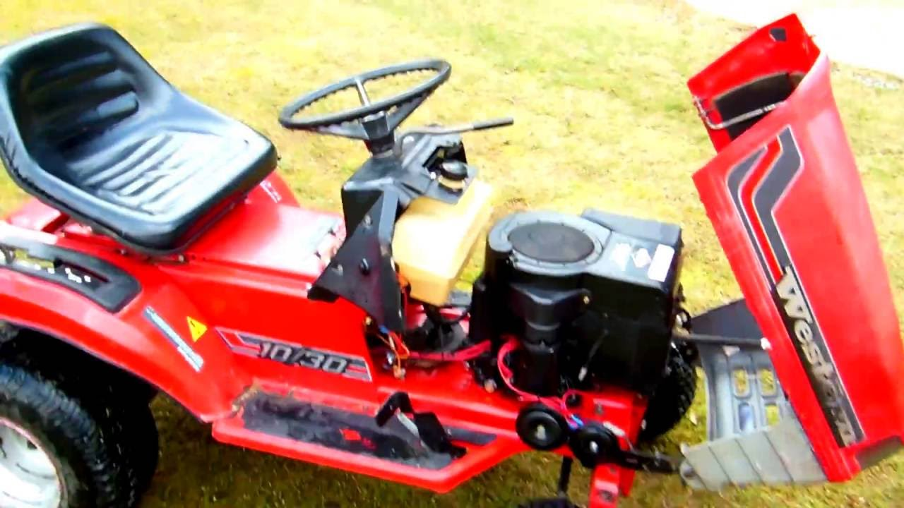 Showing my Western 10/10 Lawn mower from 1993 - YouTube