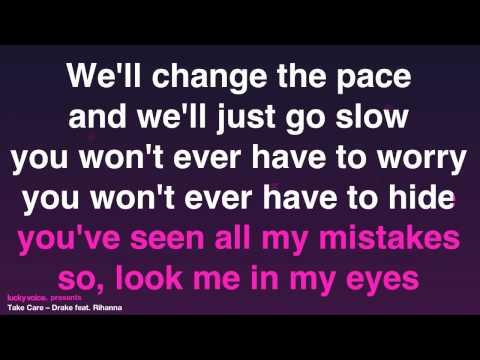 Take Care (karaoke version) Drake ft. Rihanna - Lucky Voice