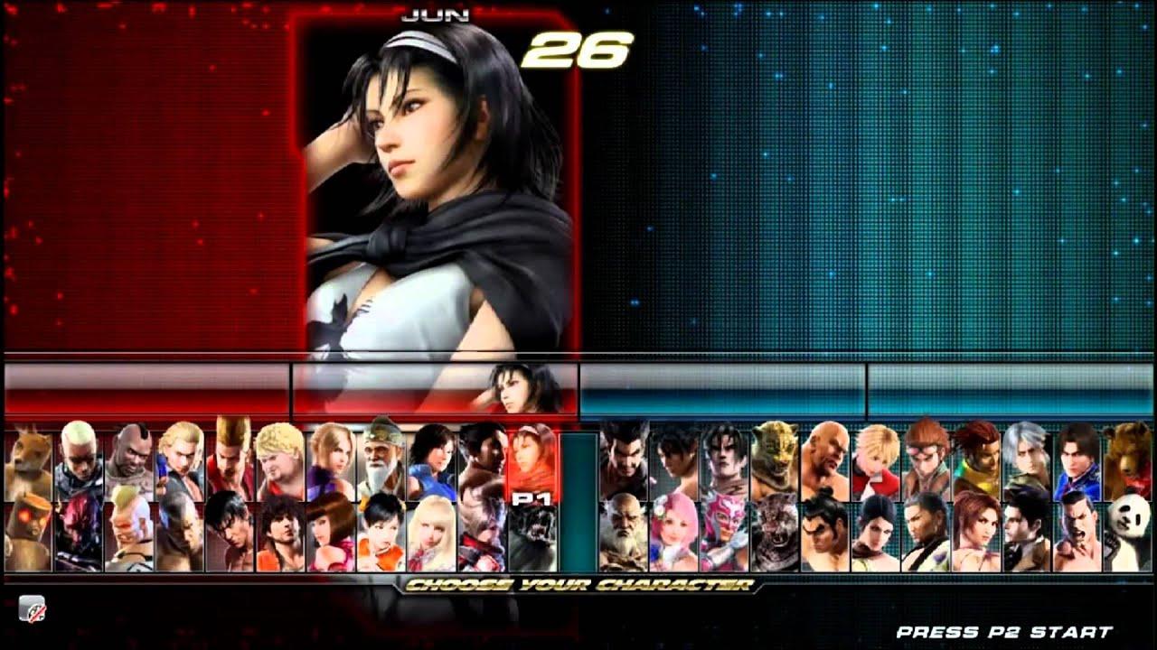 Tekken Tag 2 Character Select Youtube
