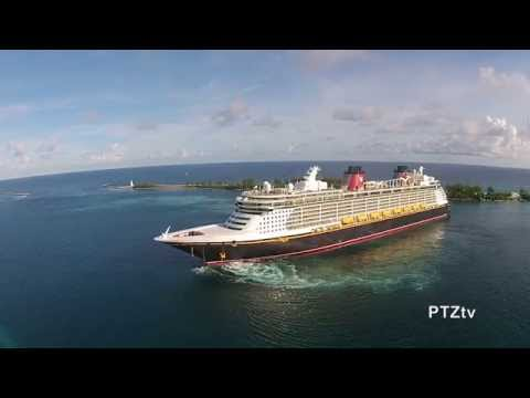 Nassau, Bahamas -- Drone Video of Cruise Ships -- Oct 2014