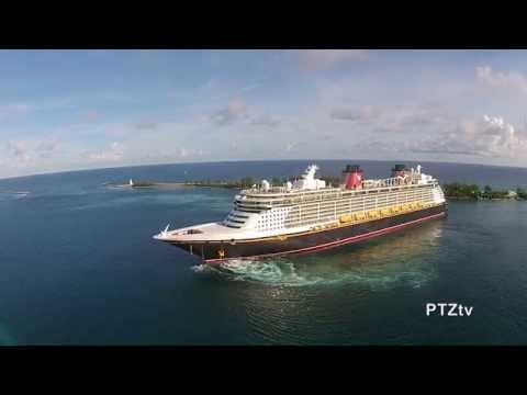 Nassau, Bahamas -- Drone Video of Cruise Ships -- Oct 2014