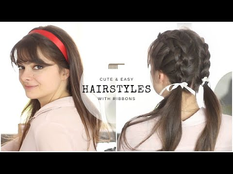 10-cute-&-easy-hairstyles-with-ribbons