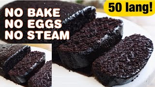 NO EGGS, NO BAKE, NO GANACHE NEEDED Super Moist Chocolate Cake Recipe w Costing