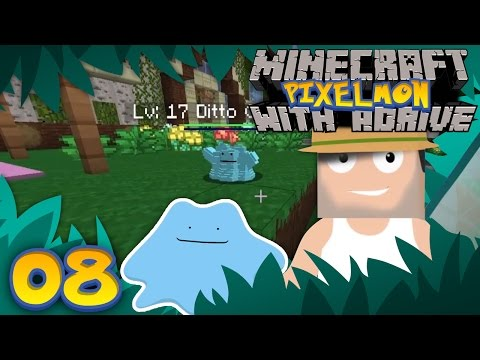 OMG! SUPER RARE SHINY DITTO!! Minecraft PIXELMON with aDrive! Ep08 - PocketPixels Red Let's Play!