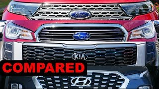 2020 Ford Explorer vs 2020 Hyundai Palisade vs 2020 Kia Telluride vs 2020 Subaru Ascent
