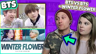 BTS vs BTS and Younha Winter Flower Feat RM of BTS Winter Flower Reaction