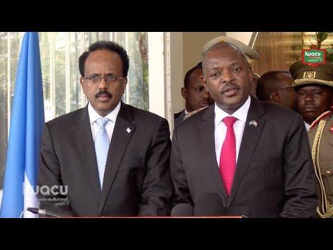 Visite du président somalien au Burundi: la question du retrait des 1000 soldats burundais évoquée