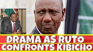 Drama as William Ruto Confronts Uhuru Kenyatta ally at the airport