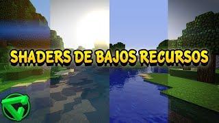 LOS MEJORES SHADERS DE BAJOS RECURSOS | Parte 2 (Minecraft 1.8/1.9/1.10/1.11/1.12 - No Lag)