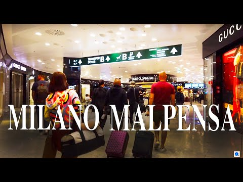 【Airport Tour】Milano Malpensa Airport  Boarding GATE & Shopping Area