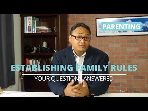Establishing family rules and consequences for kids | Improving family life