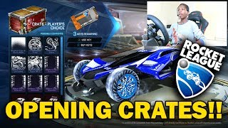 ROCKET LEAGUE CRATE OPENING & ONLINE BATTLE WITH FRIENDS!!