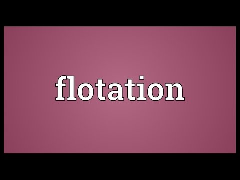Flotation Meaning