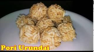 Pori Urundai Recipe in Tamil Aval pori urundai Rice Ball How to Make pori Urundai (பொாி உருண்டை)