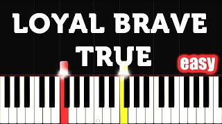 🎵 EASY Christina Aguilera - Loyal Brave True (From Mulan 2020) Piano Tutorial