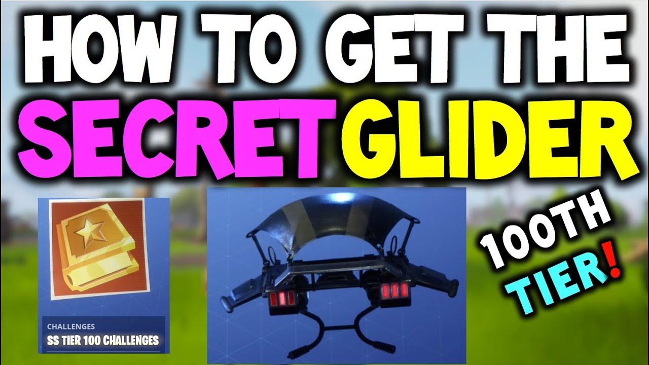 Fortnite Secret Challenge For Glider Battle Pass Tier 100