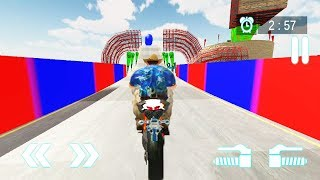 Impossible Mega Ramp Bike Stunts Race Game | Motocross Bike Games | Motorbike Stunt 3D