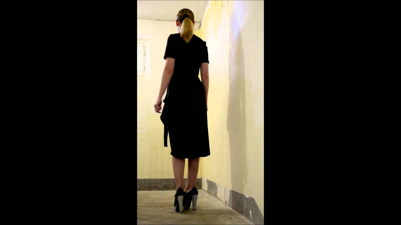 Как сшить длинное платье из бархата без выкройки? Макси платье с .
