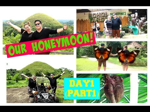 OUR HONEYMOON! Day 1 💜 Bohol Tour 💜 Chocolate Hills, Butterf