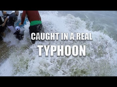 "CAUGHT IN A REAL TYPHOON ""DAMREY"" in NHA TRANG Vietnam - LIVE FOOTAGE"