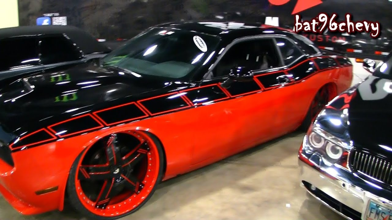 Red Black Dodge Challenger R T Dropped On 26 Forgiatos 1080p Hd