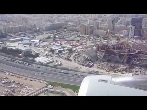 Qatar Airways, Landing in Doha
