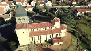 Pont-du-Château vue d'un drone