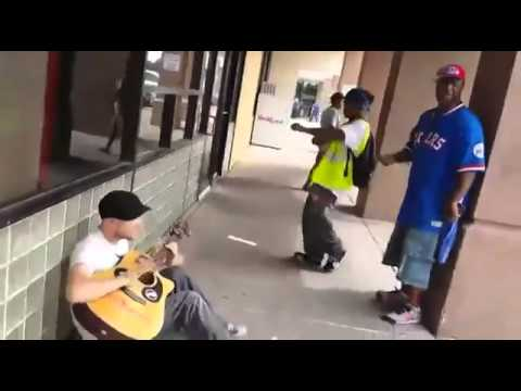 Street musician amazing impromptu jam session with two strangers