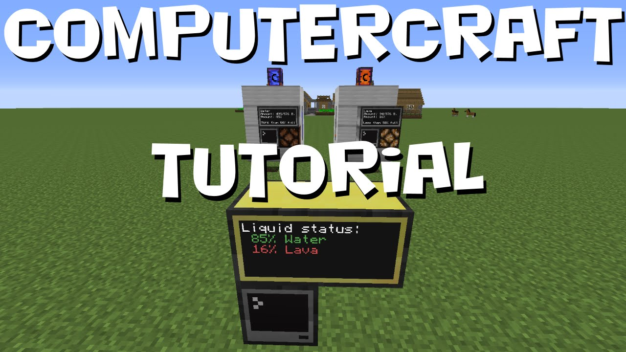 ComputerCraft Tutorial - Tank Liquids Monitoring System v3 (MC 1 7 10)