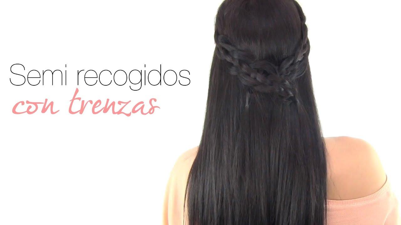 Peinados f ciles semirecogidos con trenzas youtube - Peinados recogidos con trenzas ...