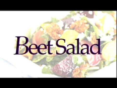 Beet Salad - 2-Minute Beet and Arugula Salad