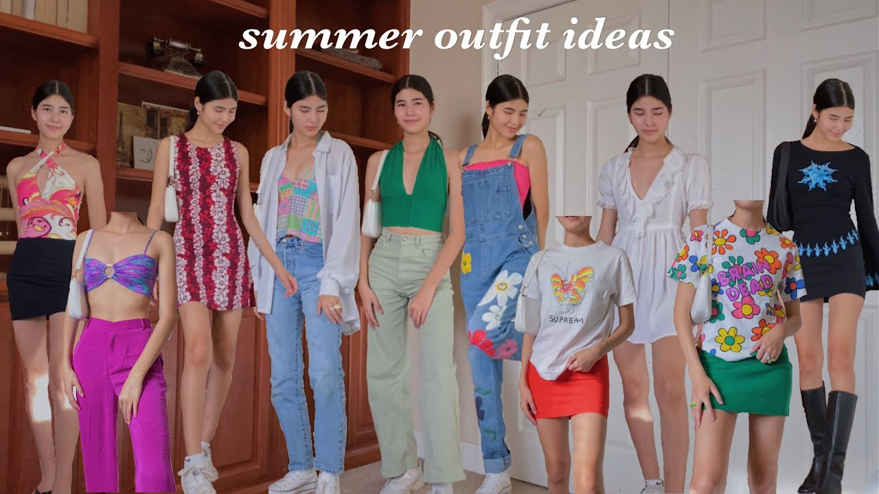 colorful summer outfit ideas / trendy summer outfits for 2021!