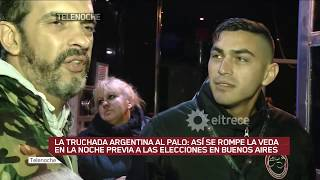 La truchada argentina al palo