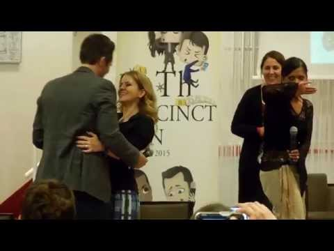 Castle Convention Seamus Dever Juliana Dever reanacting Ryan and Jenny never n wedding