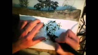 Jousting Fluttershy Woodburning Art Practice