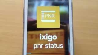 ixigo pnr status app demo check irctc flight pnr status