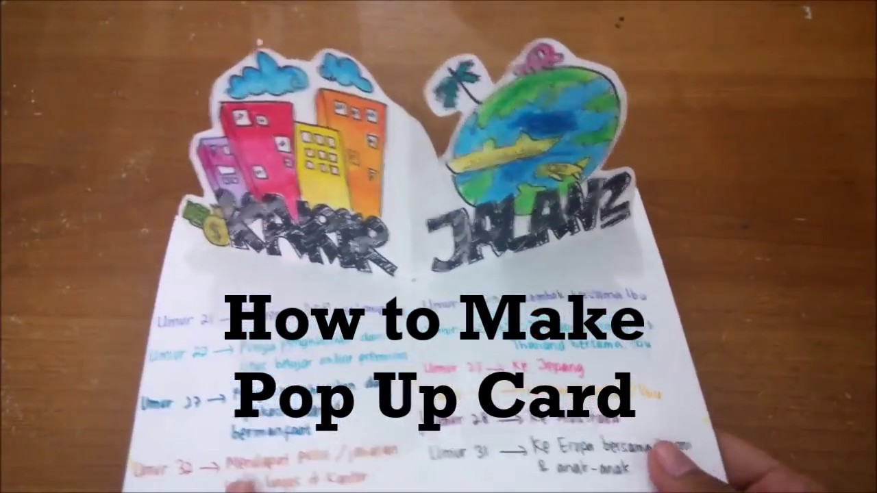 How To Make A Pop Up Card Tutorial Membuat Pop Up Youtube