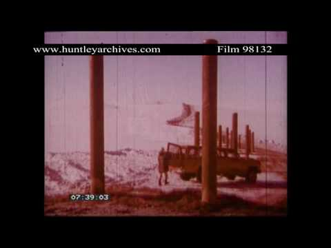 Building an oil pipeline in Alaska.  Archive film 98132