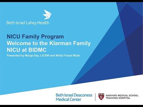 Welcome To The Klarman Family NICU At BIDMC