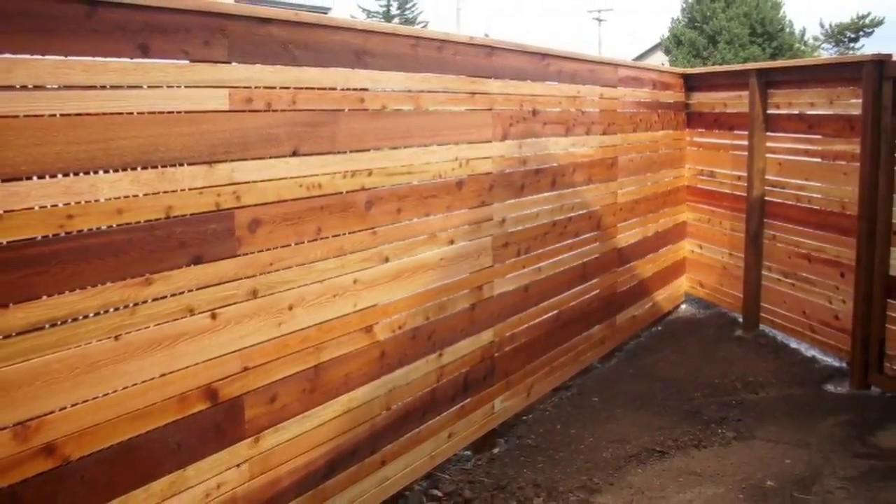 20 2 Cedar Fence Ideas Youtube