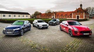 2018 Audi SQ5 vs 2018 Mercedes AMG GLC43 vs 2018 Porsche Macan GTS vs 2018 Volvo XC60